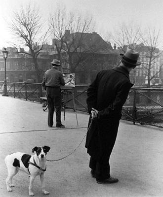 """Robert Doisneau, """"Le Fox-Terrier au Pont Des Arts"""""""