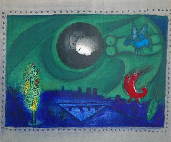 """Marc Chagall, """"Quai de Bercy"""" (1954)"""