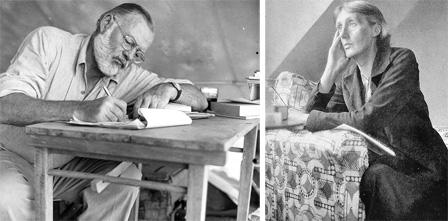 Ernest Hemingway y Virginia Woolf