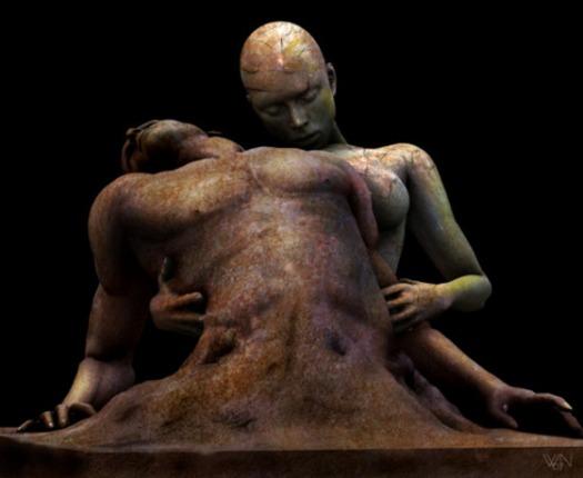 """Niek van Wijngaarden, """"Birth"""" (arte digital)"""