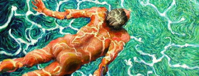 "Paul Sierra, ""The Swimmer #23"" (óleo, 2008)"